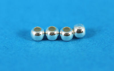 Round Spacer Beads in Sterling Silver 2.5mm (50 per pack)