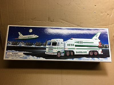 Hess 1999 Toy Truck with Space Shuttle and Satellite
