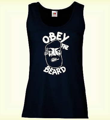 Obey The Beard Mujer Chaleco Slim Awesome Ladies Festival Summer Vest