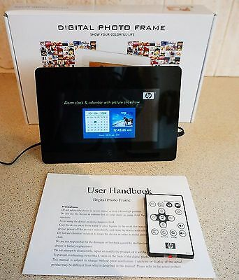 "Hewlett-Packard HP 7"" Screen multimedia Digital Photo Frame with Remote - Black"