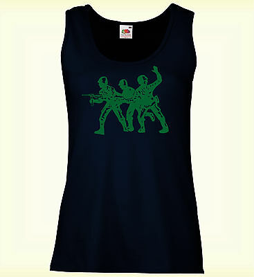 Toy Soldiers Army Guys Mujer Chaleco Slim Awesome Ladies Festival Summer Vest