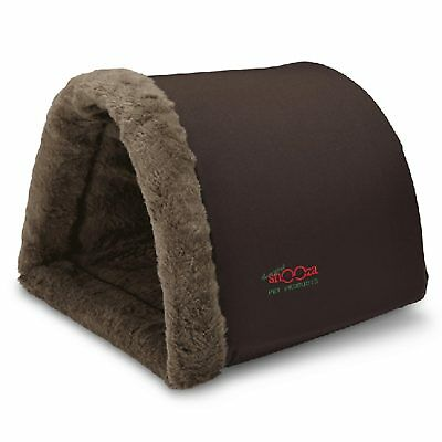 Snooza Hidey Hole (Large) Brown Dog Cat Puppy Kitten Hutch Bed Cave