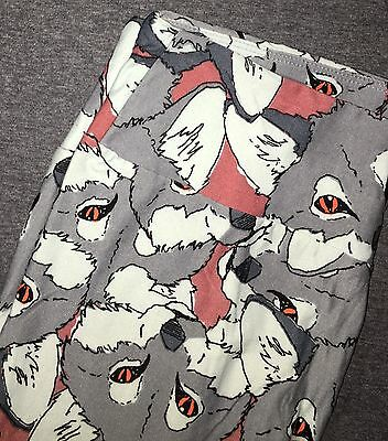 NEW LuLaRoe OS One Size Leggings Gray White Wolves Coyote UNICORN Red Eyes