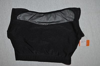 Nwt Double Platinum  Adult size Petitie Black   Emballe lace dancewear top N7241