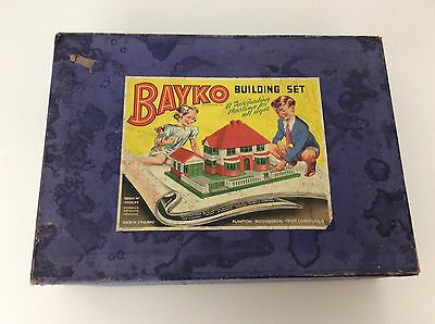 Bayko Building Set 3, Antique Toy, Complete Set, Boxed, Vgc