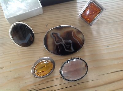 job lot silver jewellery,rings,chains,gold & silver heart.brooches,medal.more