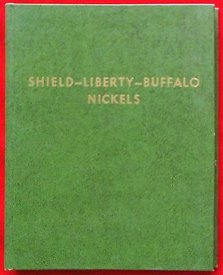 Vintage Deluxe Whitman Coin Folder For Shield, Liberty And Buffalo Nickels