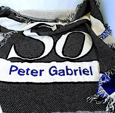 PETER GABRIEL SO Souvenir Throw Blanket Keepsake 100% Cotton Made In USA SO Tour