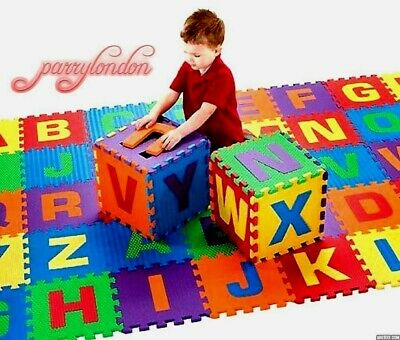 36 pcs LARGE Alphabet Numbers EVA Floor playMat Baby Room Jigsaw ABC foam Puzzle