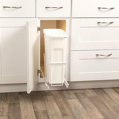 Kitchen Slide Pull Out In Cabinet Trash Can Waste Container Hardware Kit