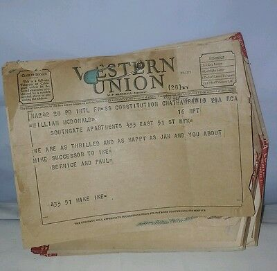 Vintage Lot Of 6 1950's  Western Union & RCA Telegrams Hollidays Congtatulation