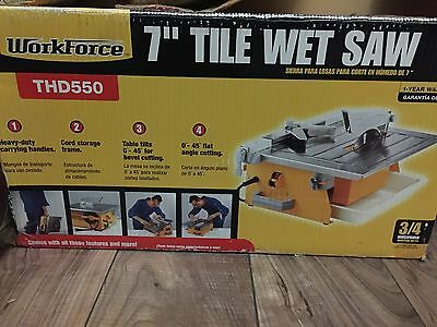 "Workforce 7"" Tile Wet Saw THD550"