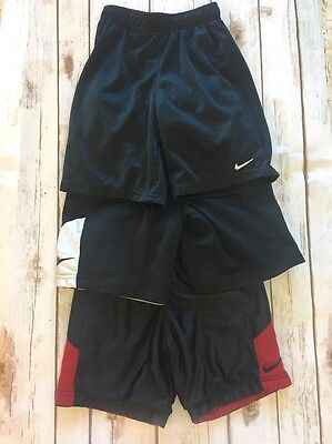 Lot Of 3 Nike Boys Athletic Shorts Size 5 6 VGUC