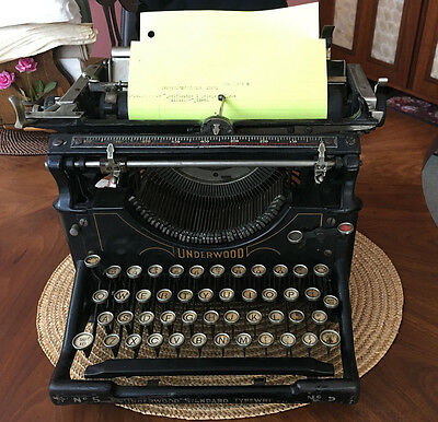 Antique Underwood Standard No. 5 Typewriter No Case
