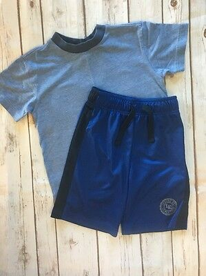 Boys Lands End Blue Athletic Shorts & Gap Kids T-shirt Size 4 4T VGUC