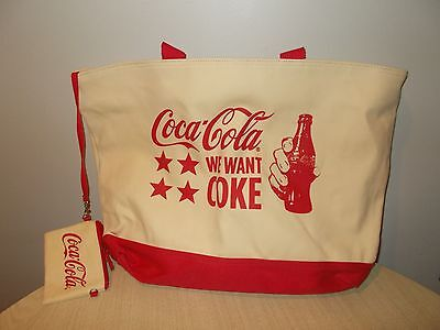 Huge Coca-Cola Tote Bag With Wristlet