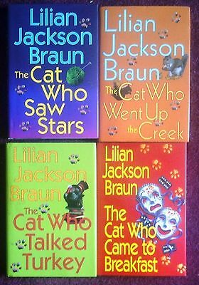 Lilian Jackson Braun - 4 CAT WHO BOOKS - Hardcover