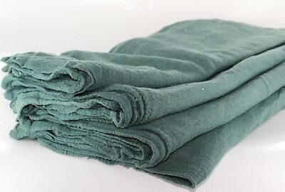 1000 Industrial Shop Rags / Cleaning Towels Green