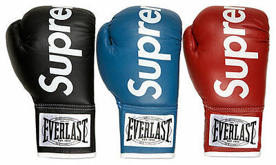2017 NEW Cool Black and Red Supreme Boxing Gloves