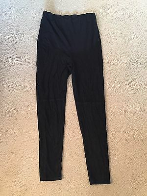 Black suede maternity leggings H&M size Large