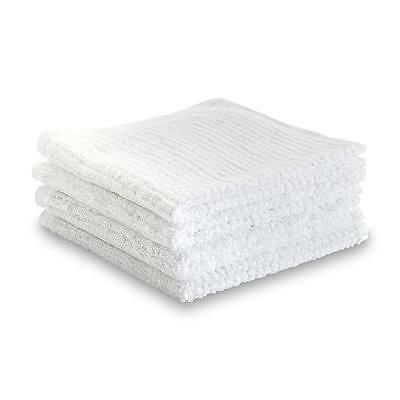 60 pieces-White-100% Cotton Ribbed Terry Bar Mop Towels-16x19 Inches-32oz