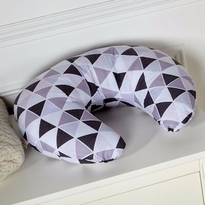 Breast Feeding Maternity Nursing Pillow - Geometric Grey