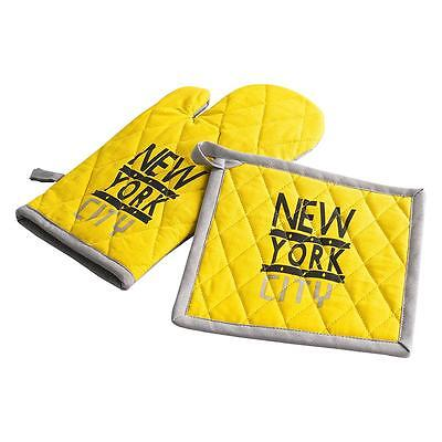 Set guanto da forno + presina Liberty New York in cotone Q791