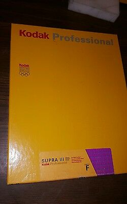 New Box 100 Sheets 8 X 10 Kodak Professional Supra Iii ~ N ~ Cat # 847 2201