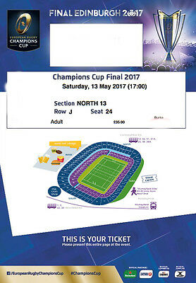 *** 2 x European Rugby Champions Cup Final Tickets Seated Together ***