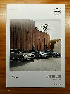 Volvo V40 2017 price list / brochure / prospekte  - V01.MY18