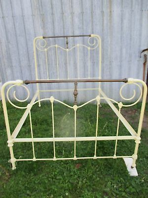 Antique Ornate Wrought Iron Full Bed Beautiful Bed, Free Mattress set.