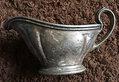 Vintage R.Wallace~ Hotel Gibson Silver Soldered 4 Oz. Creamer Advertising