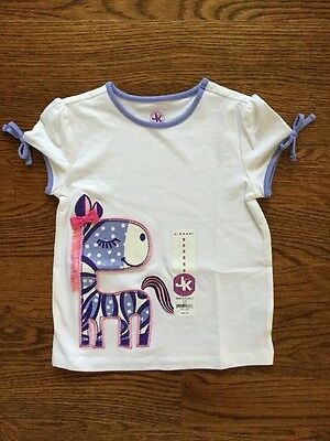 NWT J. KHAKI GIRLS SHIRT SIZE 5 short sleeve top with horse MSRP $22.00