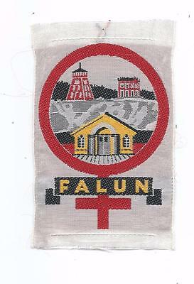 Falun Copper MIne Dalarna Province Sweden Old Woven Travel Patch Dalecarlia