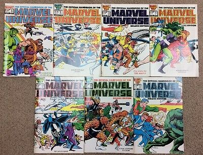 The Official Handbook Of The Marvel Universe Deluxe Edition 5-15 1986-1986