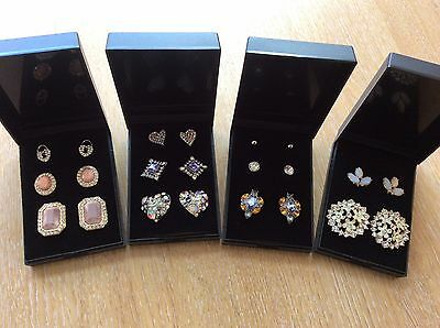 Job Lot Of 4  NEW Items Of Fashion Jewellery Gift Boxed Earrings New 210317-03