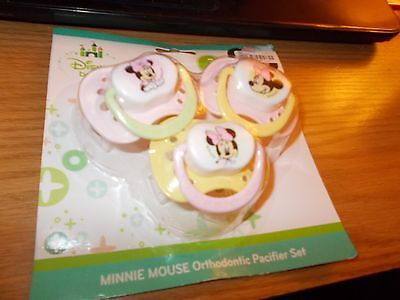 3 pack of Disney baby Minnie Mouse orthodontic pacifier set