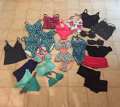 Swimsuit LOT of 24 bathing suits - ALL SIZES - S / M / L / XL Most NWOT