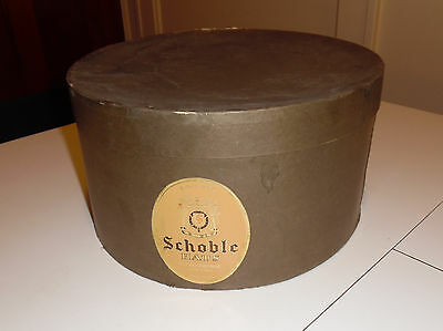 "Vintage Schoble Fifth Avenue Hat Box 13¼"" x 13¼"" x 7"" Oval"