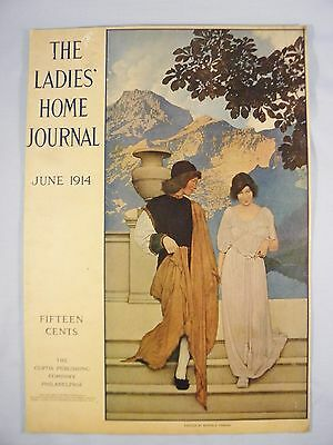 1914 Maxfield Parrish Ladies Home Journal cover, June, 1914