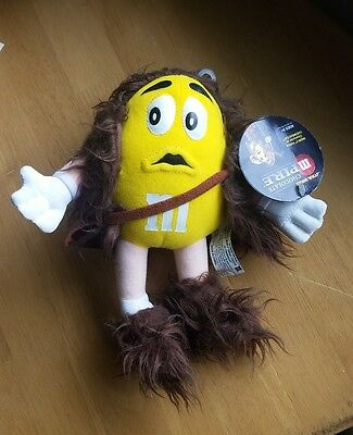 NWT Star Wars M&M Yellow Chewbacca Plush Toy 2005 Chocolate Empire