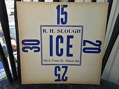 Antique R.h. Slough Ice Delivery Card Pa.