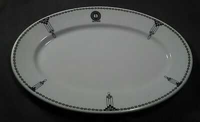 Opco Syracuse china hotel restaurant ware adv platter plate South Bend T logo