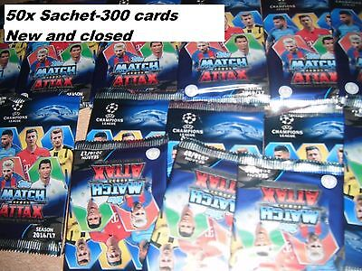 Match Attax Champions League 2016-2017 - 50 x Booster Topps  New and closed