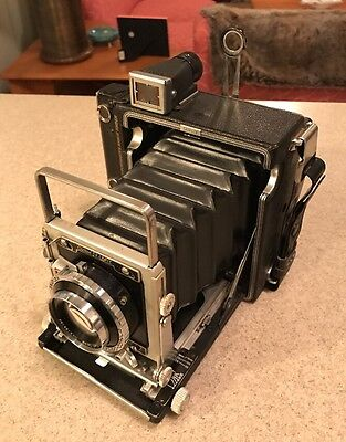 Graflex Crown Graphic 2x3 Film Camera w/ Carl Zeiss F3.5 100mm Lens
