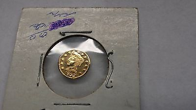 1852 California Gold 1/2 Indian head