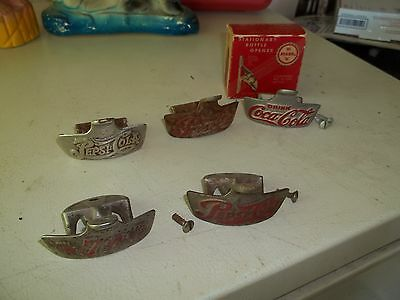 vintage wall mount soda opener lot coke, pepsi, 7-up