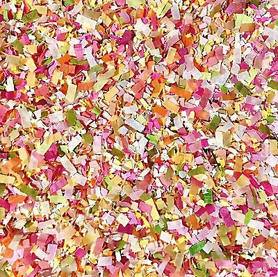 Pink Apricot Floral Confetti Biodegradable Wedding Party Decorations (25 Guests)