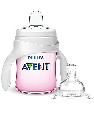 Philips AVENT My First Transition Cup, Pink, 4 Ounce, 4m+