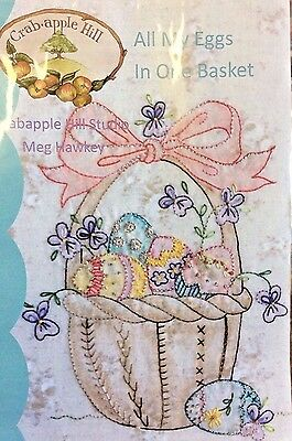 Crab-Apple Hill #272 All My Eggs In One Basket Hand Embroidery Pattern